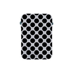 Circles2 Black Marble & Silver Glitter Apple Ipad Mini Protective Soft Cases