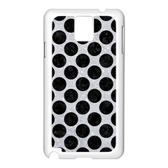 Circles2 Black Marble & Silver Glitter Samsung Galaxy Note 3 N9005 Case (white)