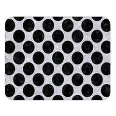 Circles2 Black Marble & Silver Glitter Double Sided Flano Blanket (large)