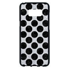 Circles2 Black Marble & Silver Glitter Samsung Galaxy S8 Plus Black Seamless Case