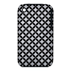Circles3 Black Marble & Silver Glitter Iphone 3s/3gs
