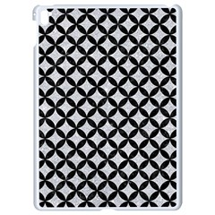 Circles3 Black Marble & Silver Glitter Apple Ipad Pro 9 7   White Seamless Case