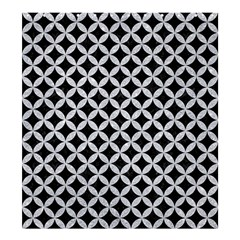 Circles3 Black Marble & Silver Glitter (r) Shower Curtain 66  X 72  (large)