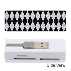 Diamond1 Black Marble & Silver Glitter Memory Card Reader (stick)