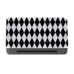 Diamond1 Black Marble & Silver Glitter Memory Card Reader With Cf