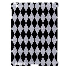 Diamond1 Black Marble & Silver Glitter Apple Ipad 3/4 Hardshell Case (compatible With Smart Cover)