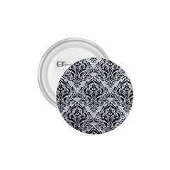Damask1 Black Marble & Silver Glitter 1 75  Buttons