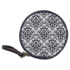 Damask1 Black Marble & Silver Glitter Classic 20 Cd Wallets
