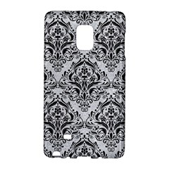 Damask1 Black Marble & Silver Glitter Galaxy Note Edge