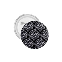 Damask1 Black Marble & Silver Glitter (r) 1 75  Buttons