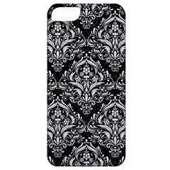 Damask1 Black Marble & Silver Glitter (r) Apple Iphone 5 Classic Hardshell Case