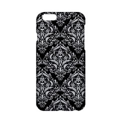 Damask1 Black Marble & Silver Glitter (r) Apple Iphone 6/6s Hardshell Case