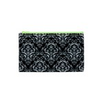 DAMASK1 BLACK MARBLE & SILVER GLITTER (R) Cosmetic Bag (XS) Front