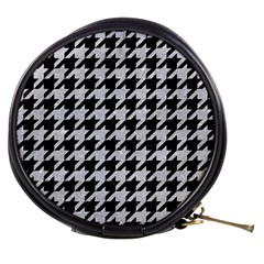 Houndstooth1 Black Marble & Silver Glitter Mini Makeup Bags