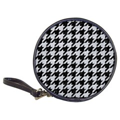 Houndstooth1 Black Marble & Silver Glitter Classic 20 Cd Wallets