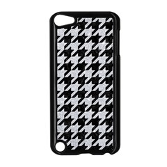 Houndstooth1 Black Marble & Silver Glitter Apple Ipod Touch 5 Case (black)