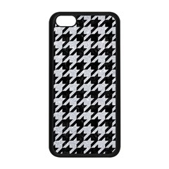 Houndstooth1 Black Marble & Silver Glitter Apple Iphone 5c Seamless Case (black)