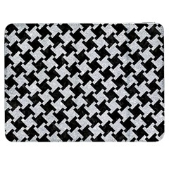 Houndstooth2 Black Marble & Silver Glitter Samsung Galaxy Tab 7  P1000 Flip Case