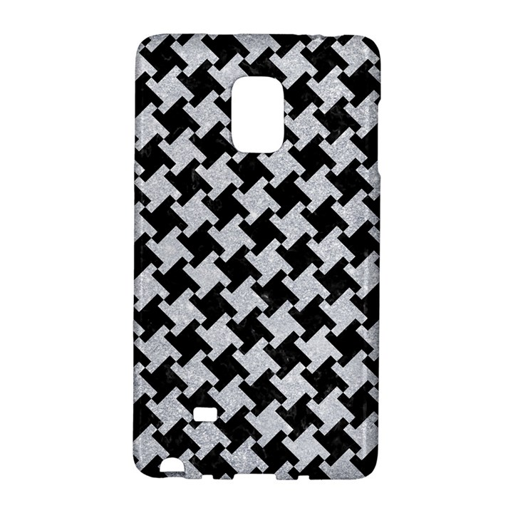 HOUNDSTOOTH2 BLACK MARBLE & SILVER GLITTER Galaxy Note Edge