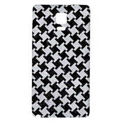 Houndstooth2 Black Marble & Silver Glitter Galaxy Note 4 Back Case