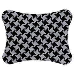 Houndstooth2 Black Marble & Silver Glitter Jigsaw Puzzle Photo Stand (bow)