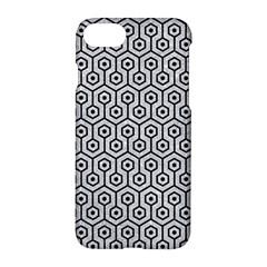 Hexagon1 Black Marble & Silver Glitter Apple Iphone 7 Hardshell Case