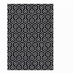Hexagon1 Black Marble & Silver Glitter (r) Small Garden Flag (two Sides)