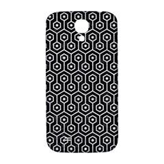 Hexagon1 Black Marble & Silver Glitter (r) Samsung Galaxy S4 I9500/i9505  Hardshell Back Case