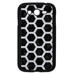 Hexagon2 Black Marble & Silver Glitter (r) Samsung Galaxy Grand Duos I9082 Case (black)