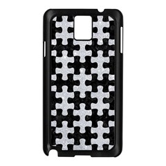 Puzzle1 Black Marble & Silver Glitter Samsung Galaxy Note 3 N9005 Case (black)