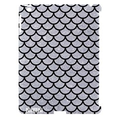 Scales1 Black Marble & Silver Glitter Apple Ipad 3/4 Hardshell Case (compatible With Smart Cover)
