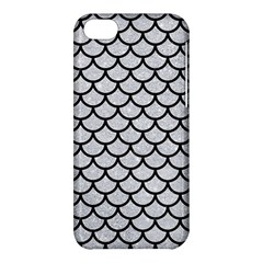 Scales1 Black Marble & Silver Glitter Apple Iphone 5c Hardshell Case