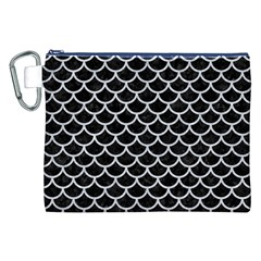 Scales1 Black Marble & Silver Glitter (r) Canvas Cosmetic Bag (xxl)