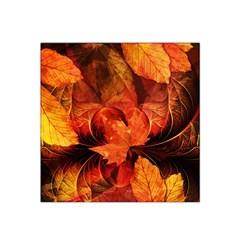 Ablaze With Beautiful Fractal Fall Colors Satin Bandana Scarf