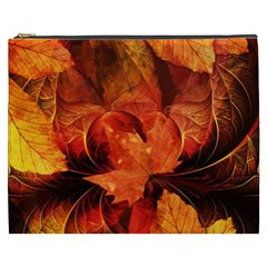 Ablaze With Beautiful Fractal Fall Colors Cosmetic Bag (xxxl)