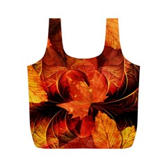 Ablaze With Beautiful Fractal Fall Colors Full Print Recycle Bags (m)