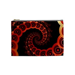 Chinese Lantern Festival For A Red Fractal Octopus Cosmetic Bag (medium)