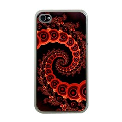 Chinese Lantern Festival For A Red Fractal Octopus Apple Iphone 4 Case (clear)