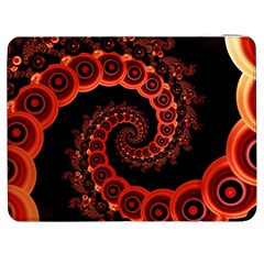 Chinese Lantern Festival For A Red Fractal Octopus Samsung Galaxy Tab 7  P1000 Flip Case
