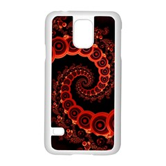 Chinese Lantern Festival For A Red Fractal Octopus Samsung Galaxy S5 Case (white)