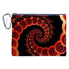 Chinese Lantern Festival For A Red Fractal Octopus Canvas Cosmetic Bag (xxl)
