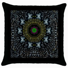 Leaf Earth And Heart Butterflies In The Universe Throw Pillow Case (black)