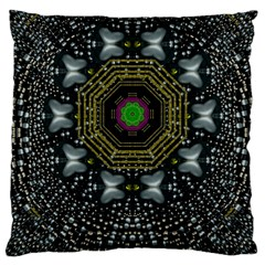 Leaf Earth And Heart Butterflies In The Universe Large Cushion Case (one Side)
