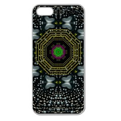 Leaf Earth And Heart Butterflies In The Universe Apple Seamless Iphone 5 Case (clear)