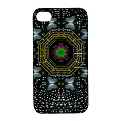 Leaf Earth And Heart Butterflies In The Universe Apple Iphone 4/4s Hardshell Case With Stand