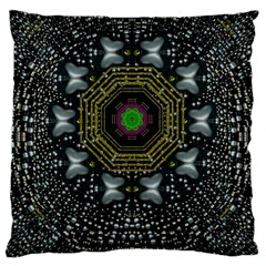 Leaf Earth And Heart Butterflies In The Universe Standard Flano Cushion Case (two Sides)