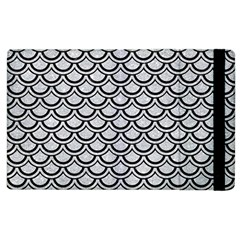 Scales2 Black Marble & Silver Glitter Apple Ipad 2 Flip Case