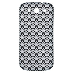 Scales2 Black Marble & Silver Glitter Samsung Galaxy S3 S Iii Classic Hardshell Back Case