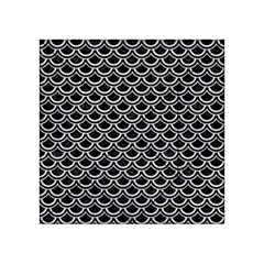 Scales2 Black Marble & Silver Glitter (r) Acrylic Tangram Puzzle (4  X 4 )