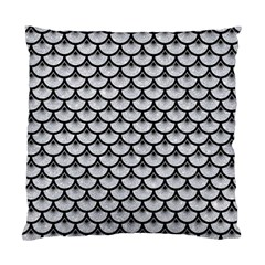 Scales3 Black Marble & Silver Glitter Standard Cushion Case (one Side)